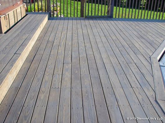 This photo shows the completed deck.