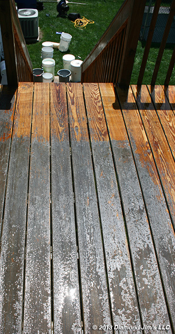 made the mistake or inherited a deck with a painted or stained surface you can remove that paint or stain and bring your deck back down to the wood