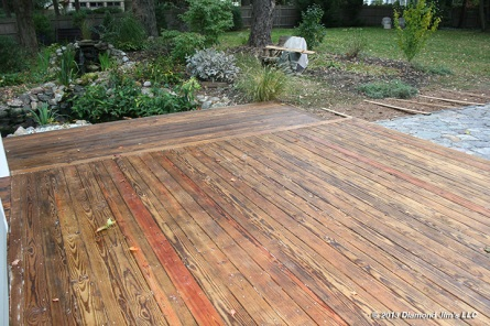 Fresh coat of oil applied to deck.