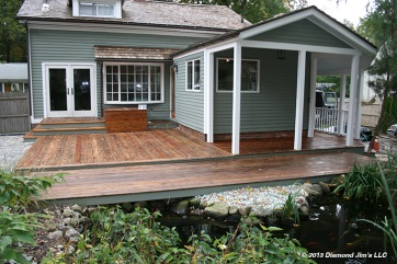 Another view of the complete deck freshly oiled.