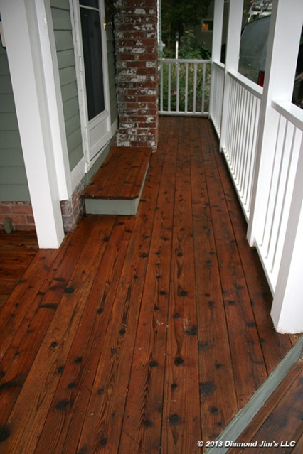 Here is the cedar section of deck now complete.