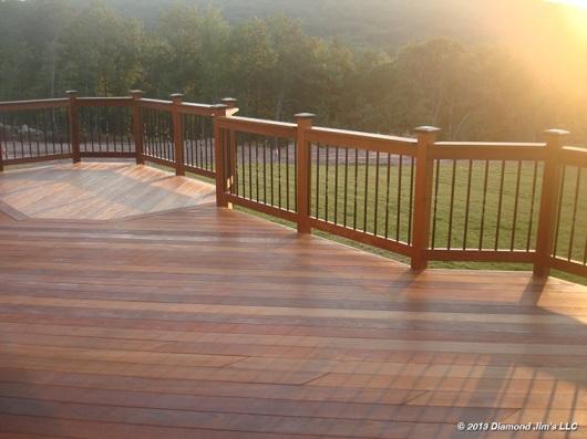 Ipé deck with custom oil blend.