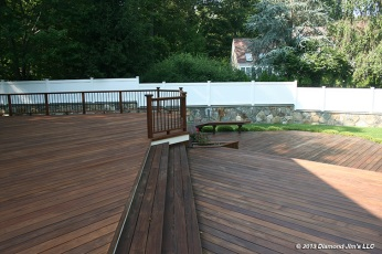 3,000 square foot ipé deck