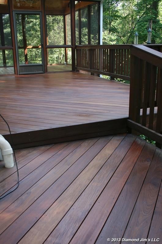 Ipé sunroom and deck strip job.