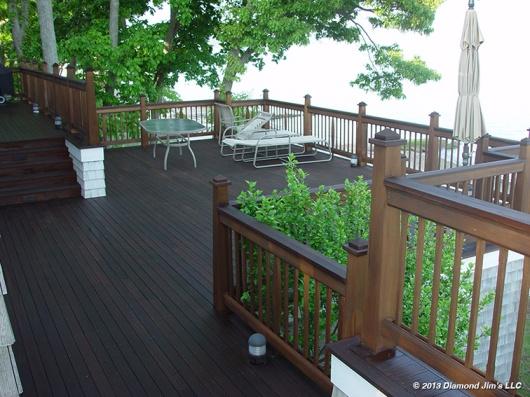 Mahogany Deck with Cedar railing