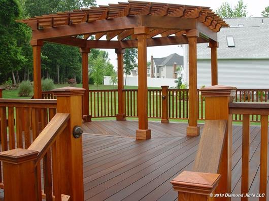 Mahogany Deck with Cedar