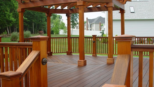 Mahogany Deck with Cedar