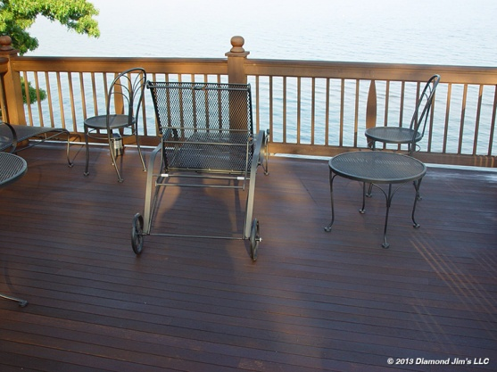 Mahogany Deck with Cedar railing