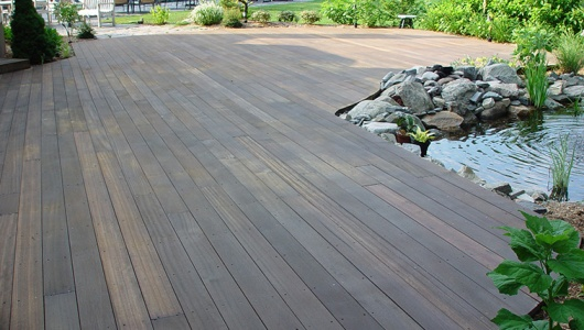 Mahogany Deck around koi pond