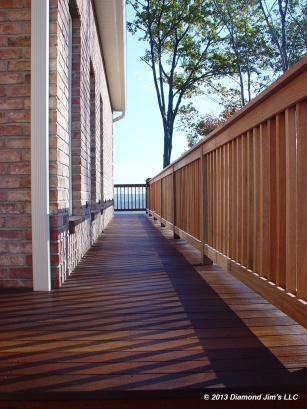 Mahogany deck and rails