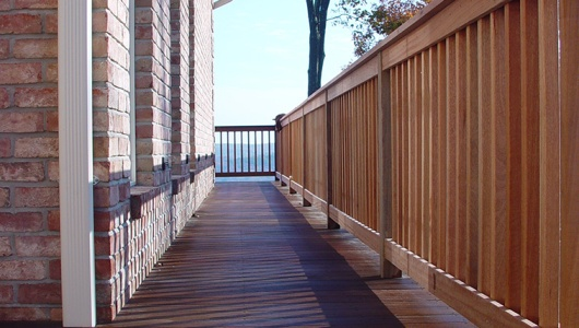 Mahogany deck and rails