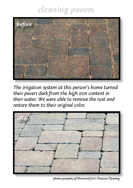 Paver cleaning before and after.