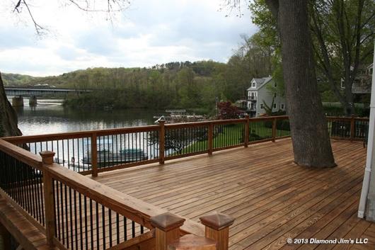 Pressure Treated Deck in natural cedar tone