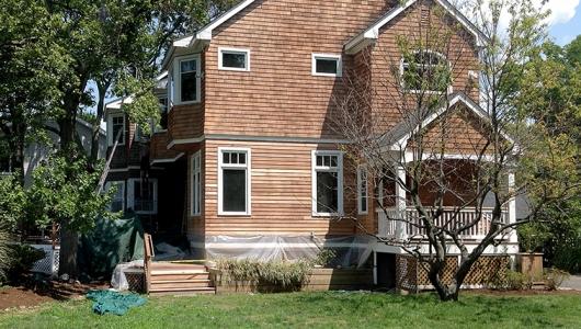 Front side of cedar house neutralized.